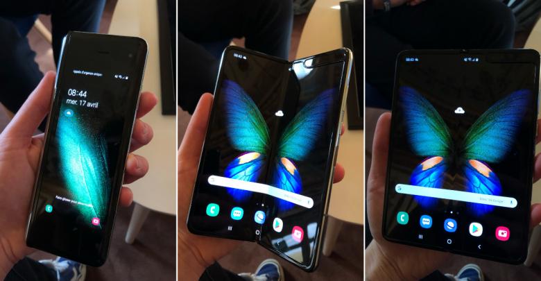 Samsung Galaxy Fold smartphone pliable