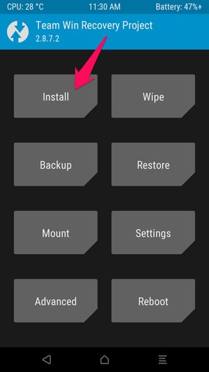 x twrp install
